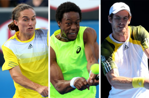 Alexandr Dolgopolov - Gael Monfils - Andy Murray - 2013 Australian Open