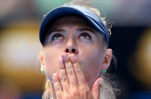 Maria Sharapova - 2013 Australian Open - earrings