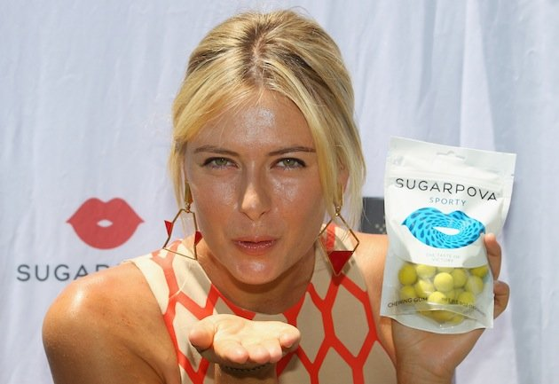 Maria Sharapova is a sweet tooth