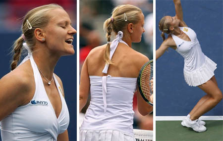 Agnes Szavay wears Marta Makany at the 2007 US Open
