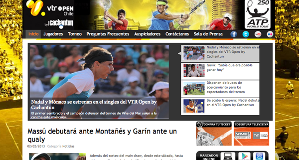VTR Open - Vina del Mar, Chile - 2013 Tournament homepage