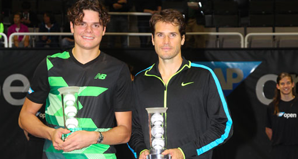 2013 SAP Open - San Jose - Trophy - Milos Raonic defeats Tommy Haas