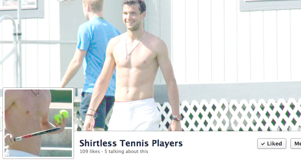 shirtless tennis - grigor dimitrov