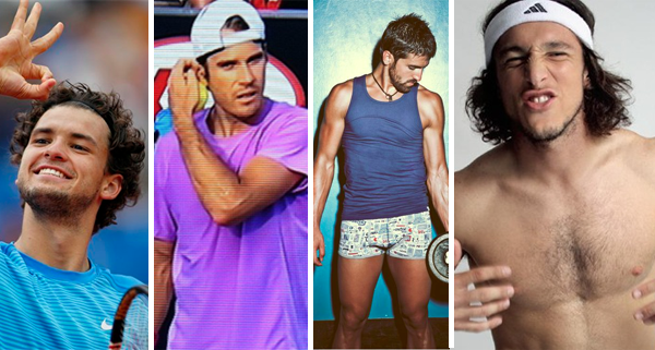 Shirtless Tennis Players