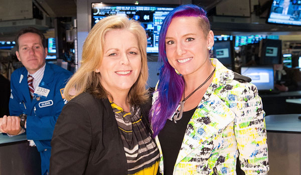Bethanie Mattek-Sands and Stacey Allaster ring NYSE bell 2013